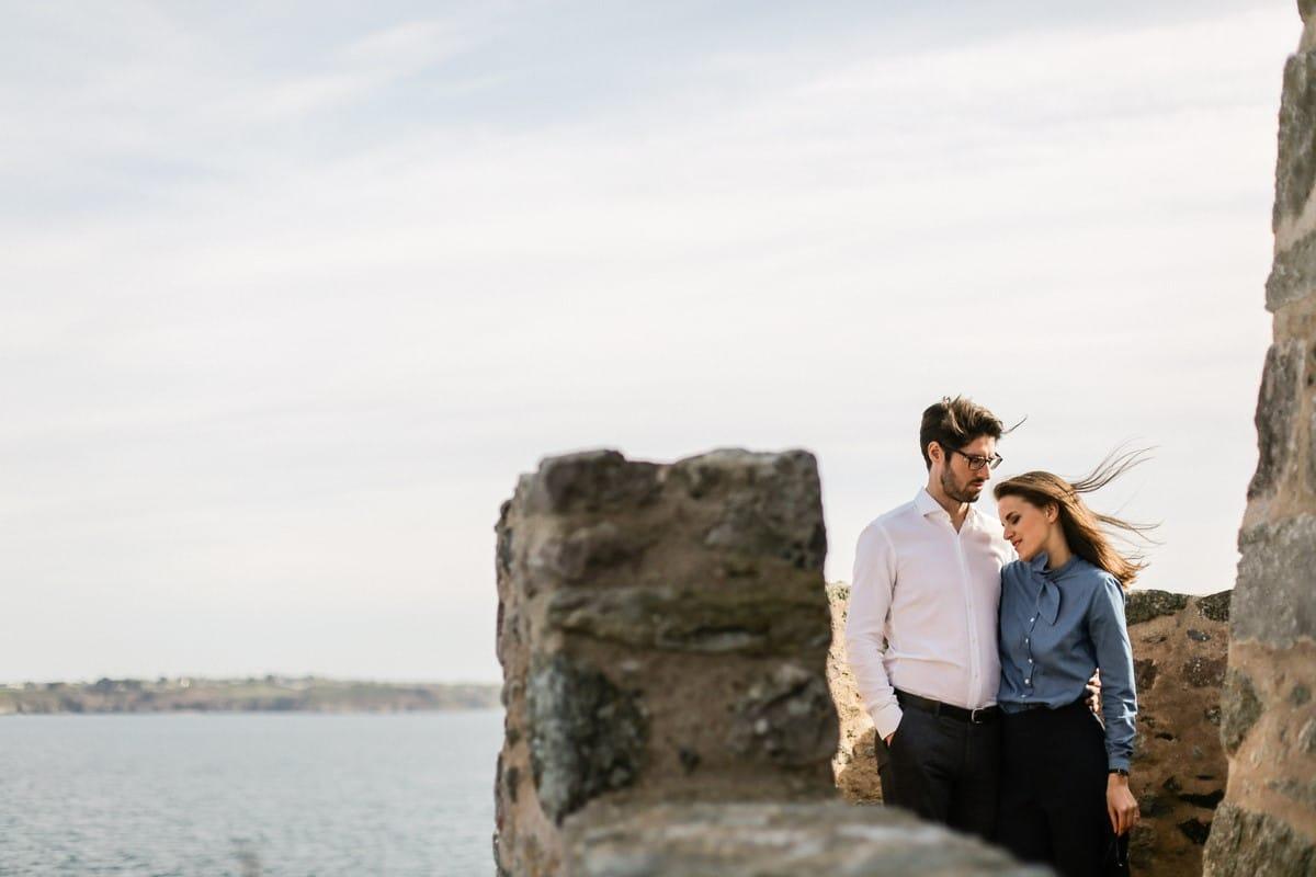 Séance Engagement, photographe mariage bretagne, bretagne, mer